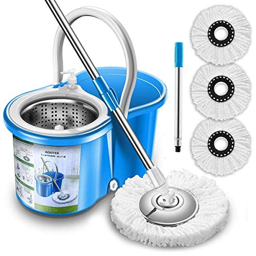 Aootek Upgraded Stainless Steel 360 Spin Mop