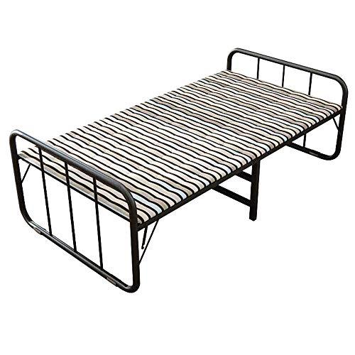 N/Z Tägliche Ausrüstung Tragbares Einzelbett Siestabett Robustes Klappbett Langlebig für Innenbüro Balkon Terrasse Garten Strand im Freien (Farbe: Mehrfarbig Größe: 194X80X62CM)