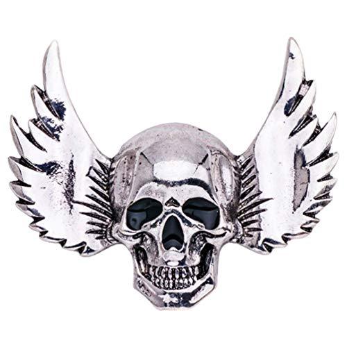 Holibanna Broches de Halloween Esqueleto Cráneo Alfileres de Solapa Broches de Metal con Alas Accesorios de Bricolaje Regalos para Hombres Mujeres Ropa Bolsas Mochilas Chaquetas Sombreros