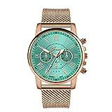 Damen Analog Quarz Armbanduhr mit Mesh-Armband,Modisch Armbanduhren Quarz Uhr Schöne Damenuhr Handuhrm,Geschenk zum Valentinstag (Grün)