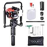 Yescom 2 Stroke 32.7cc Gas Powered T Post Driver Gasoline Piling Driver Portable Lightweight w/EPA Certificated
