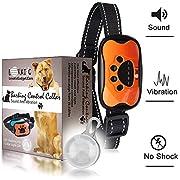 LOVATIC Anti Bark Collar - Humane, No Shock Dog Bark Collar - Training Collar Control Barking Vibration & Sound Stimuli - 7 Levels Sensitivity Adjustment