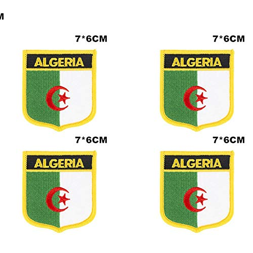 Algerije Shiled Shape vlag patches nationale vlag patches voor Cothing DIY Decoratie
