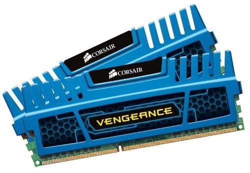 Corsair CMZ8GX3M2A1600C9B Vengeance 8GB Arbeitsspeicher ((2x4GB) DDR3 1600 Mhz CL9 XMP) blau