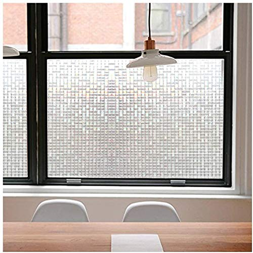 Película de ventana de privacidad de mosaico 3D sin pegamento película de vidrio de privacidad hogar dormitorio fijo estático reflejo de luz solar película decorativa de vidrio esmerilado A90 60x100cm