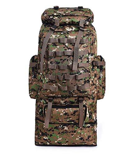 RatenKont Mochila táctica Capacidad 100L Montañismo Camping Senderismo Bolsa táctica Militar Repelente al Agua Jungle Camouflage