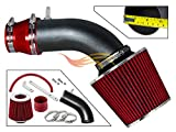 R&L Racing MATTE BLACK PIPE RED - SHORT RAM INTAKE Compatible For 11-15 Hyundai ACCENT/VELOSTER 1.6L / ELANTRA/KIA RIO RLWSI-HY-R06RDB