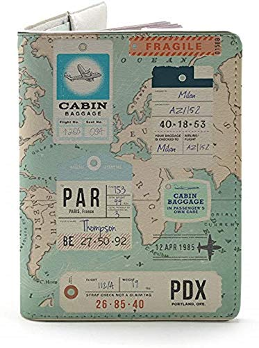 Let's the Map Show You the Way - Wanderlust Collection - Leather Vintage Map - Passport Holder - Travel Accessories