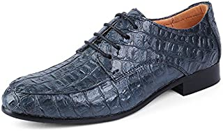 Men's Business Oxford Casual Uncomplicated Classic Crocodile Rung Toe Formal Shoes casual shoes (Color : Blue, Size : 49 EU)
