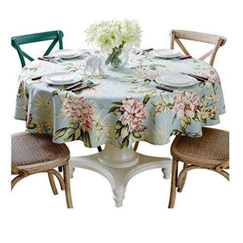 Nappe ronde table coton et lin frais salon nappe hôtel rond table tissu (Size : Diameter 130cm)