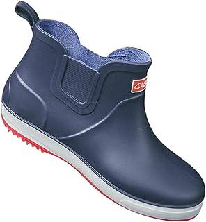 Xinwcang Bottes Chelsea Homme, Waterproof Bottes de Pluie Bottines Cheville Rainboots Imperméables Chaussures
