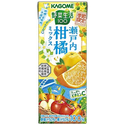 野菜生活100 瀬戸内柑橘ミックス 195ml×48本 紙パック