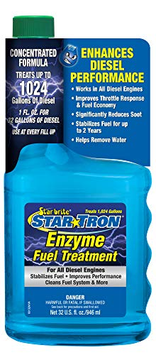 STAR BRITE Star Tron Enzyme Fuel Treatment - Super Concentrated Diesel Formula - 1 oz. Treats 32 Gallons - 32 OZ (093132SS)