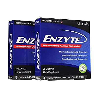 Enzyte? Natural Male Enhancement Supplement with Asian Ginseng, Ginkgo Biloba, Grape Seed Extract, Horny Goat Weed - 60 Capsules