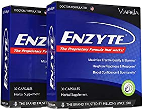Enzyte® Natural Male Enhancement Supplement with Asian Ginseng, Ginkgo Biloba, Grape Seed Extract, Horny Goat Weed - 60 Capsules