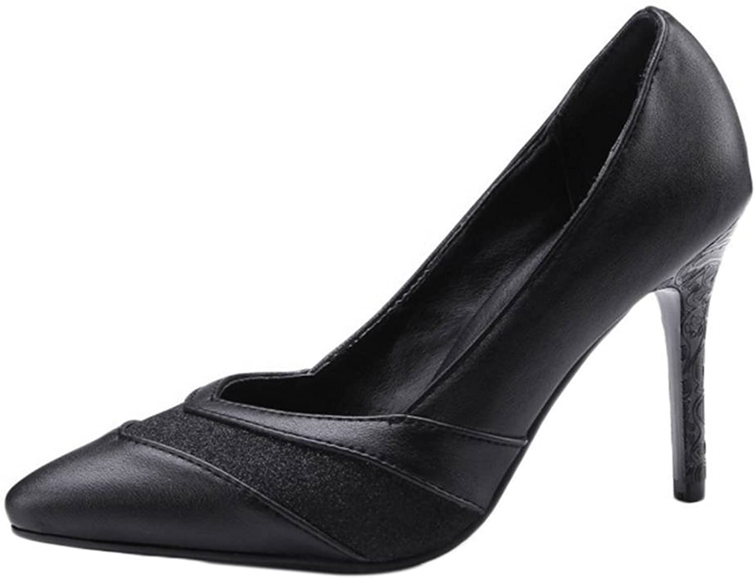 Smilice Fashion Pumps with Stiletto and Pointed Toe Women Working shoes with Large Size Available
