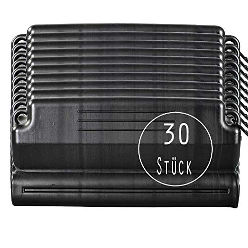POOL Total 30 Stück Eisdruckpolster schwarz mit Haken und Ösen