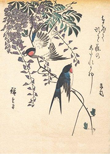 UTAGAWA HIROSHIGE 'Hirondelle et Wisteria' Japonais, 19ème...