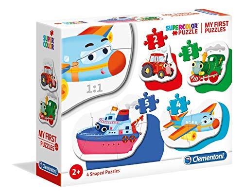 Clementoni- My First Puzzle-Animali Selvaggi-3-6-9-12 Pezzi, Multicolore, 20811