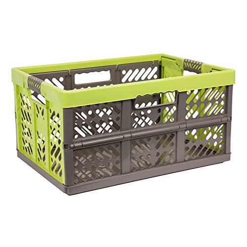 3 x Profi Klappbox 45 L Kunststoff Box Klappkiste Einkaufskorb Faltbox beige