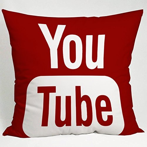 okstore1988 Funda de Almohada para Medios sociales de Youtube Icon (16x16 un Lado)
