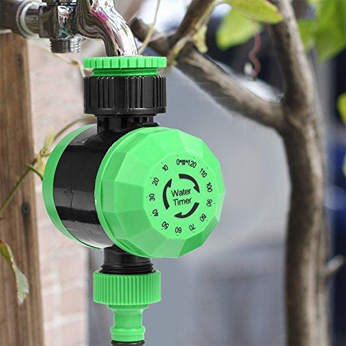 CUEA Temporizador de riego, Temporizador de Agua Sistema de riego, Apagado automático anticorrosión Resistente al Desgaste 2-120 Minutos para jardín en la azotea, balcón, jardín de la Villa