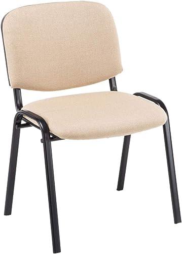 Chaise Visiteur Empilable Ken Tissu I Chaise de Reception Confortable avec Dossier Pieds en Métal Robuste I Couleur:,...