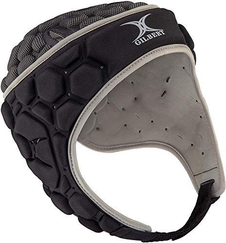 Falcon 200 Rugby-Kopfschutz – Schwarz/Silber – Größe M