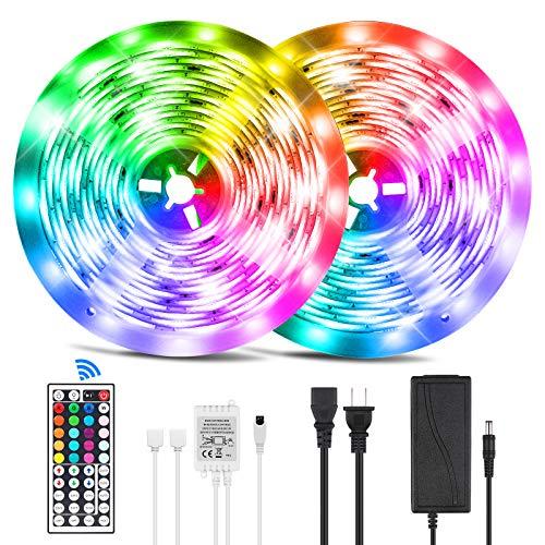 Led Strip Lights, 32.8ft/10M SMD5050 Waterproof RGB Strip Lights, Color Changing Strip Lighting with 44 Key Remote Controller, Flexible Strip Lights for Home, Bedroom, DIY Decoration ( Upgraded Model)