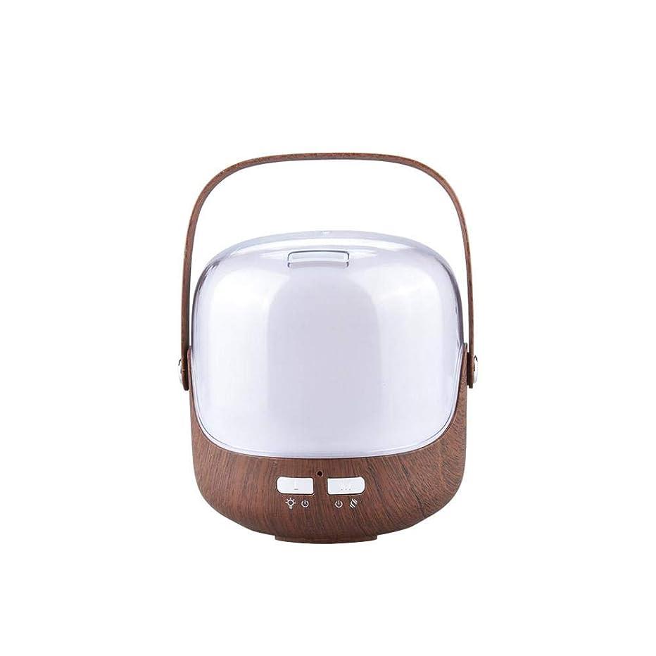 純度用心純度木目 ポータブル 涼しい霧 加湿器 ハンドル 自動シャット ダウン-オフ 加湿機 超音波式 精油 ディフューザー 空気を浄化 蒸気気化器 デスク-
