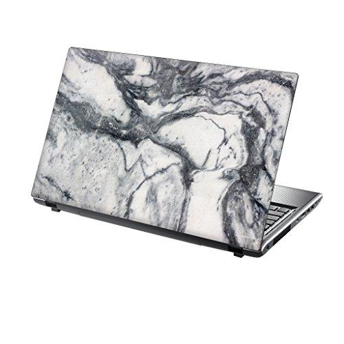 TaylorHe Folie Sticker Skin Vinyl Aufkleber mit bunten Mustern für 15 Zoll 15,6 Zoll (38cm x 25,5cm) Laptop Skin weiße Marmor Textur
