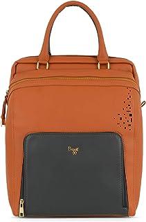 Baggit Spring-Summer 2020 Faux Leather Women's Backpack Handbag (Brown) (L Morass)