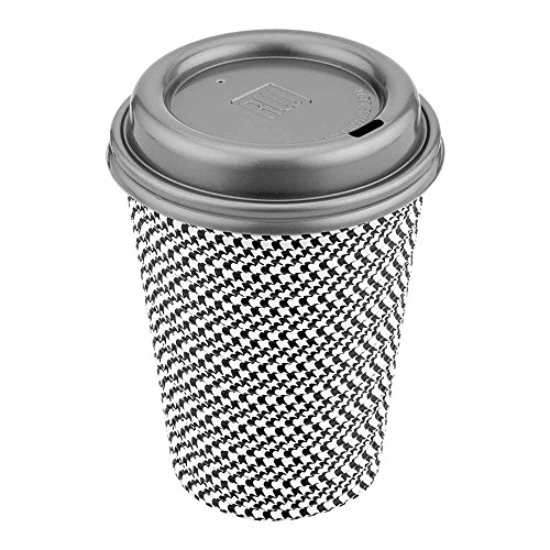 500-CT Disposable Pewter grey Lid for Coffee and Tea Cups - Fits 8-OZ, 12-OZ, and 16-OZ Cups: Perfect for Coffee Shops, Juice Shops, and Restaurant Takeout - Recyclable Plastic Lid - Restaurantware