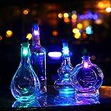 LEDMOMO Luz LED para botella recargable con tapón de corcho USB, lámpara LED para botella de vino, lámpara de corcho (luz blanca)