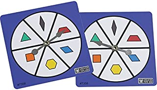 Didax Educational Resources Pattern Block Spinners, Set of 5