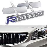 LSYBB Nuevo Metal 3D R Diseño Pegatinas de Coches con el Emblema de la Parrilla del Frente de la Placa Car Styling para Volvo V60 R Diseño S60 S60 XC60 V40