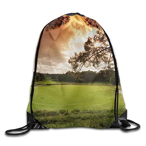 DJNGN Bolsa con cordón para Campo de Golf para Viajar o Hacer Compras Mochilas Informales Mochilas Escolares Mochila 8807