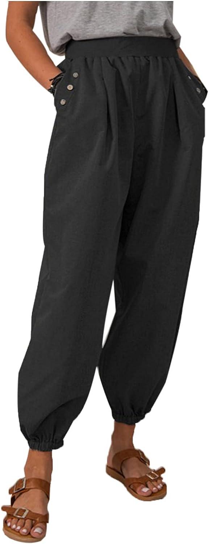 Bikegna White Linen Pants for Women List Ranking TOP3 price Tightness Ca Pocket Trousers