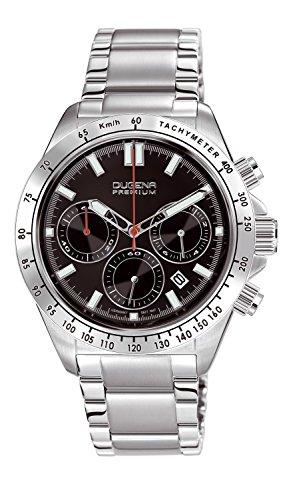 Dugena Herren-Armbanduhr Imola XL Chronogarph - Sport Line Analog Quarz Edelstahl 7090172