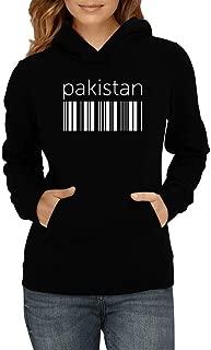 Idakoos Pakistan Lower Barcode Women Hoodie