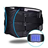 ZHIJING Rückenbandage mit Stützstreben und verstellbare Zuggurte und atmungsaktiver Nylonstoff