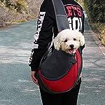 MaoXinTek Pet Sling Carrier Bag, Safe Dog Slings Backpack for Small Puppy Cat 2.5kg/5.5LB Breathable Mesh Travel Carrier Pouch, Shoulder Cross body Bag Hand Free for Outdoor Walking Subway 9