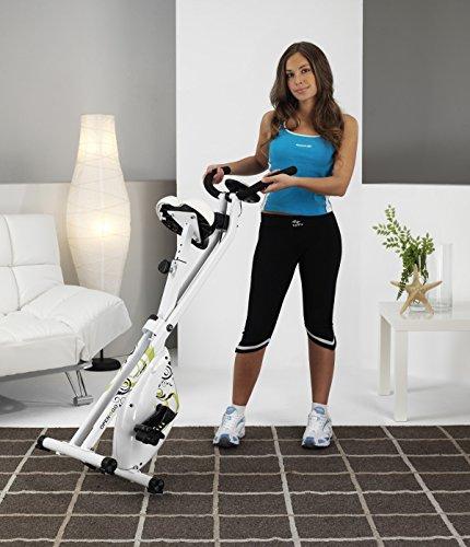 Tecnovita by BH Open&GO YF90 Bicicleta estática Plegable. Sistema de Freno magnético. Volante de inercia Equivalente a 8kg. Monitor Easy Start