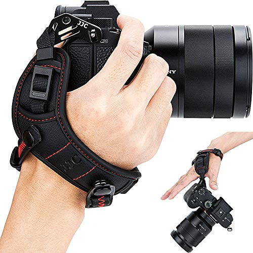 Mirrorless Camera Wrist Hand Grip Strap for Panasonic Lumix S1R S1 G95 G9 G85 G7 G6 GX9 GX85 GX8 GX7 GX850 GF7 GH5S GH5 GH4 GH3 LX100 LX100M2 DMC FZ2500 FZ1000 Mark II Leica D-Lux7 D-Lux(Typ 109) Red