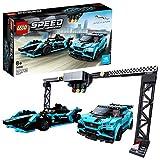 LEGO Speed Champions - Formula E Panasonic Jaguar Racing GEN2 car & Jaguar I-PACE eTROPHY, Juguete de Construcción con...