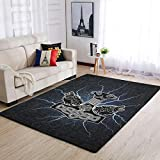 Bannihorse Alfombra de lujo, moderna, suave, para interiores, para decoración del hogar, color blanco, 122 x 183 cm