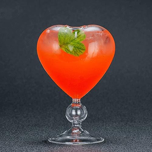 SMNHSRXH Slanted Martini Cup Scrub Cocktail Creatieve Goblet Loodvrije Glazen Bubble Cups Geweldige Beatiful Mooie Hartvormige Bril