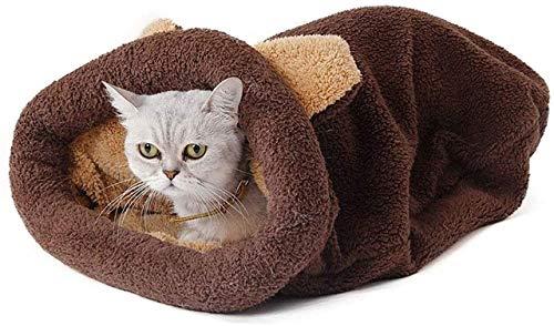 IUYJVR Cama para Mascotas Mascotas Suave y cálida Saco de Dormir para Gatos Saco para Gatos con Calentamiento automático Camas para perreras para Mascotas Saco para acurrucarse Manta Alfombra para