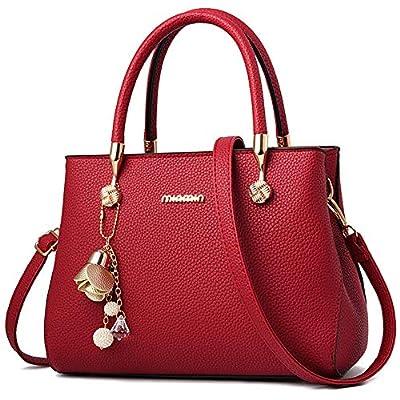 WangWang Women Top Handle Handbags Satchel Tote Purse Shouler Bags Messenger Bags For Ladies