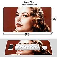人気グレース・ケリー Grace Kelly 1 ワイヤレス マウスパッド 耐久性が良い 防水 滑り止めゴム底 ゲーム オフィス 多機能 マウスパッ